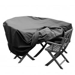 Funda para conjuntos de mesa y sillas L 270 x A 150 x A 78 cm ovalada