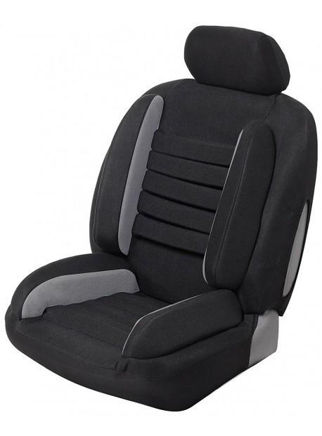 Funda universal para el asiento del coche para el dolor de espalda en imitación de cuero negro gris súper cómodo