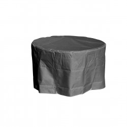 Funda protectora para mesa de jardín redonda gris D 120 x A 70 cm