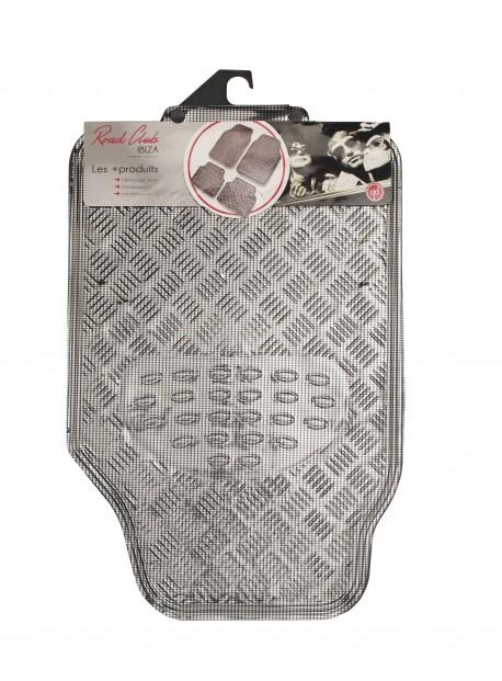 Alfombrillas universales Tuning Efecto Carbono Bicolor 4 piezas Tuning de alfombras