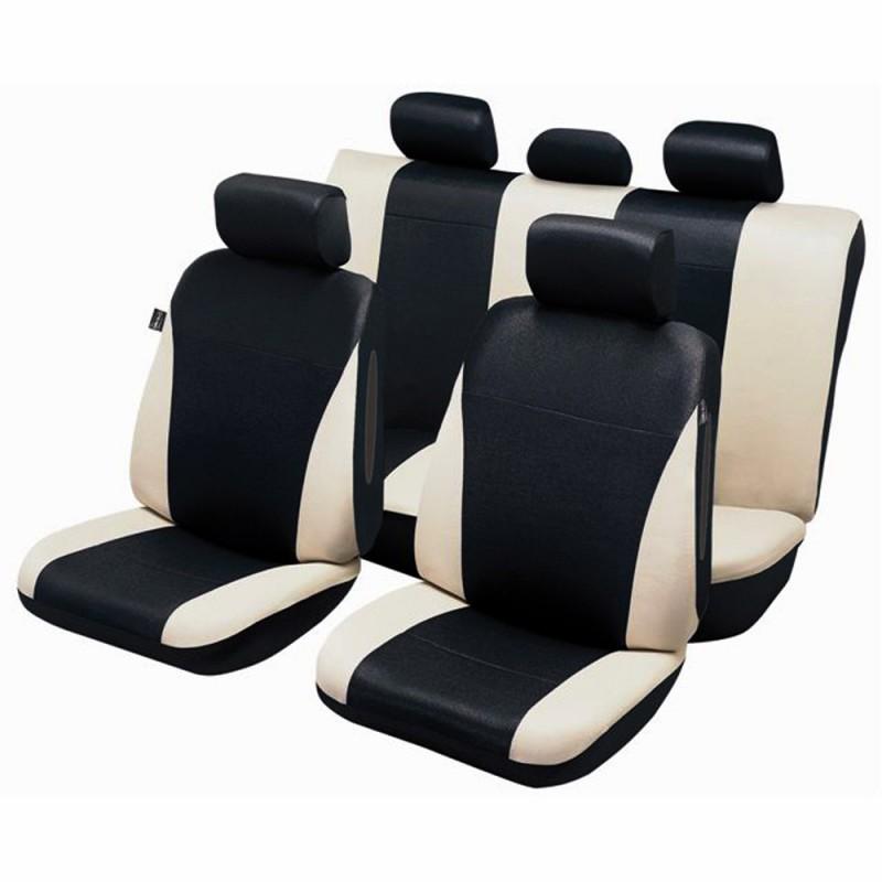 Negro-rojo efecto 3d fundas para asientos para Dacia Logan asiento del coche referencia completamente