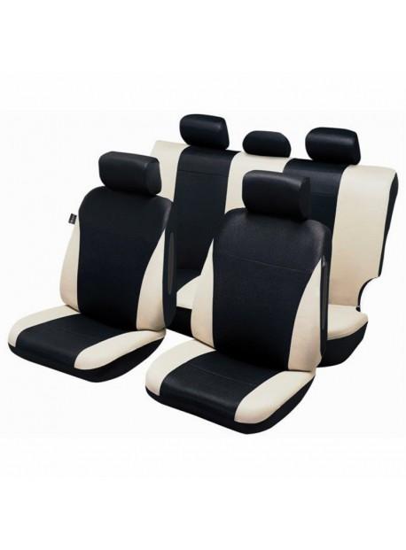 Funda de asiento de coche universal para SUV y 4X4 Beige y negro
