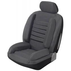 Funda universal para el asiento del coche para un dolor de espalda gris y súper cómodo