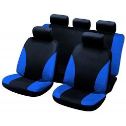 Funda universal para el asiento de seguridad azul y negro