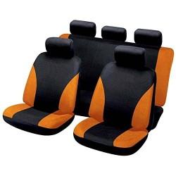 Funda universal para el asiento de seguridad naranja y negro
