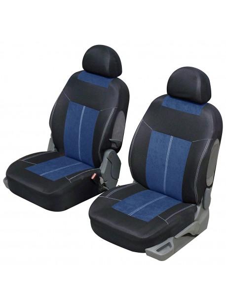 Funda universal para el asiento delantero Azul y Negro