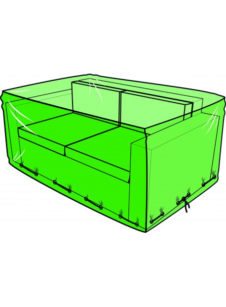 Funda para sofá de jardín de 2 plazas - 140 x 80 x 60 cm