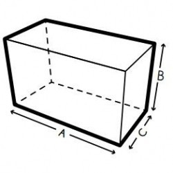 Funda a medida, cuadrada, rectangular, Forma 1