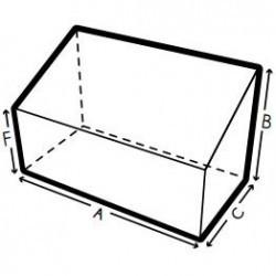 Funda a medida cuadrada, rectangular, a dos alturas, Forma 2