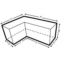Funda a medida sofa en L, Forma 8