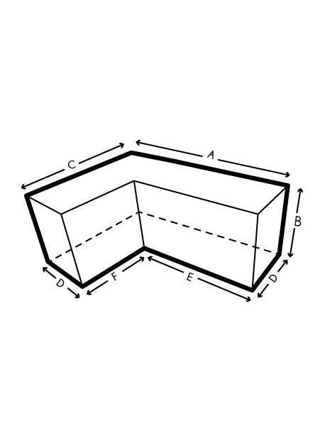 Funda protectora para sofás de esquina hechos a medida