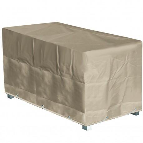 Funda protectora Mesa de jardín rectangular 180x110x70 cm beige