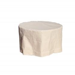 Funda de mesa redonda beige D 120 x h 70 cm