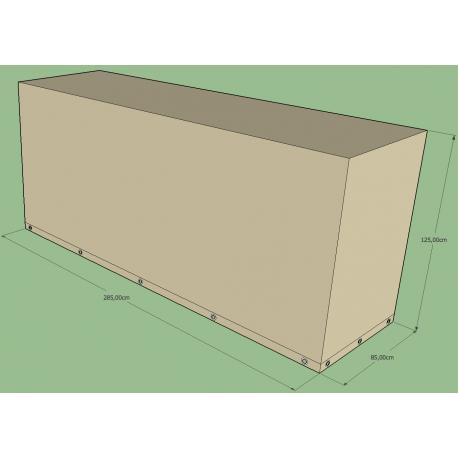 Funda rectangular L 285 x l 85 x h 125 cm Beige