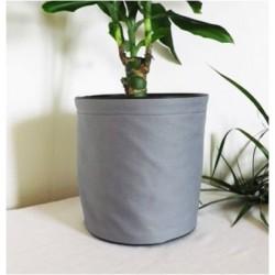Maceta textil - 100% impermeable - Gris