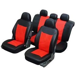 Funda para coche urbano en imitación cuero Rojo y negro