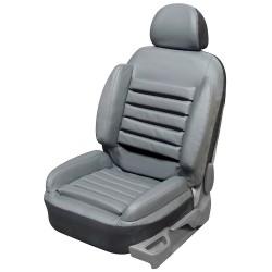 Funda universal para el asiento del coche para el dolor de espalda en imitación de cuero gris súper cómodo