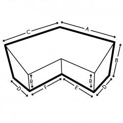 Funda a medida en L con dos alturas, Forma 9