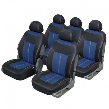 Funda para coche Monoespacio 5 plazas Microfibra Azul