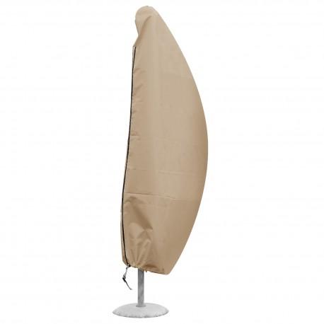 Funda protectora para parasol remoto beige H 185 cm x diam 40 cm