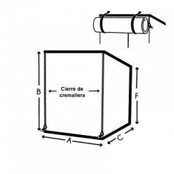 Funda a medida dos alturas, abertura Forma 10