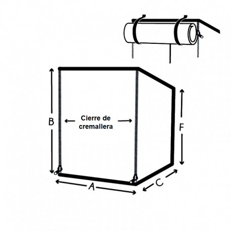 Funda protectora rectangular con cremallera personalizada